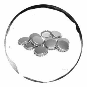 Capace Metalice Argintii 26mm 100 bucăți