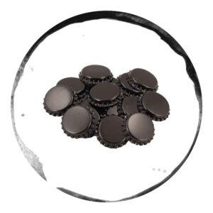 Capace Metalice Negre 26mm 100 bucăți