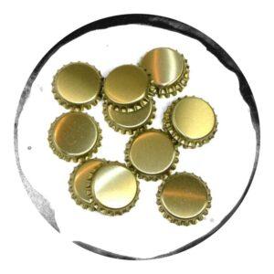 Capace Metalice Aurii 26mm 100 bucăți