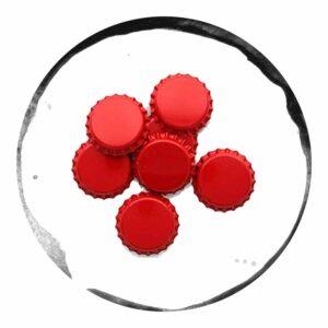 capace metalice rosii