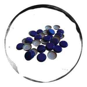 capace metalice albastre